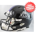Helmets, Full Size Helmet: Super Bowl 47 Baltimore Ravens Speed Football Helmet Champs