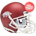 Helmets, Mini Helmets: Arkansas Razorbacks Mini XP Authentic Helmet Schutt <b>Matte Crimson</b>