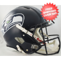 Helmets, Full Size Helmet: Seattle Seahawks Speed Football Helmet <B>Matte Navy</B>