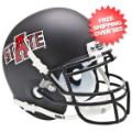 Helmets, Mini Helmets: Arkansas State Indians Mini XP Authentic Helmet Schutt <B>Matte Black</B>