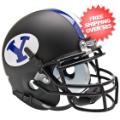 Helmets, Mini Helmets: Brigham Young Cougars Mini XP Authentic Helmet Schutt <B>Black</B>