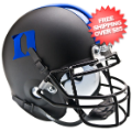 Helmets, Mini Helmets: Duke Blue Devils Mini XP Authentic Helmet Schutt <B>Matte Black D Blue</B>