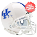Helmets, Mini Helmets: Kentucky Wildcats Mini XP Authentic Helmet Schutt <B>White</B>