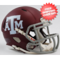 Helmets, Mini Helmets: Texas A&M Aggies NCAA Mini Speed Football Helmet <B>Matte Maroon</B>