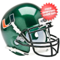 Helmets, Mini Helmets: Miami Hurricanes Mini XP Authentic Helmet Schutt <B>Green</B>
