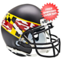 Helmets, Mini Helmets: Maryland Terrapins Mini XP Authentic Helmet Schutt <B>Black Wing</B>