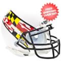 Helmets, Mini Helmets: Maryland Terrapins Mini XP Authentic Helmet Schutt <B>White Wing</B>