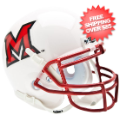 Helmets, Mini Helmets: Miami of Ohio Redhawks Mini Authentic Helmet Schutt