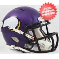Helmets, Mini Helmets: Minnesota Vikings NFL Mini Speed Football Helmet <B>Matte Purple</B>