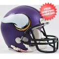 Helmets, Mini Helmets: Minnesota Vikings NFL Mini Football Helmet <B>New 2013 Matte Purple</B>