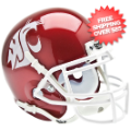Helmets, Mini Helmets: Washington State Cougars Mini XP Authentic Helmet Schutt <B>Scarlet</B>