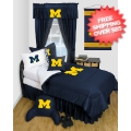 Home Accessories, Bed and Bath: Michigan Wolverines Bedroom Set Queen