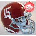Helmets, Mini Helmets: Alabama Crimson Tide Mini XP Authentic Helmet Schutt #15