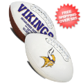 Collectibles, Footballs: Minnesota Vikings NFL Signature Series Full Size Football