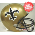 Helmets, Full Size Helmet: New Orleans Saints 1976 to 1999 Full Size Replica Throwback Helmet