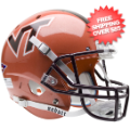 Helmets, Full Size Helmet: Virginia Tech Hokies Full XP Replica Football Helmet Schutt <B>Orange</B>