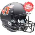 Helmets, Full Size Helmet: Virginia Tech Hokies Full XP Replica Football Helmet Schutt <B>Matte Black<...