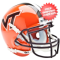 Helmets, Mini Helmets: Virginia Tech Hokies Mini XP Authentic Helmet Schutt <B>Orange</B>