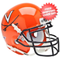 Helmets, Mini Helmets: Virginia Cavaliers Mini XP Authentic Helmet Schutt <B>Orange</B>