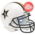 Helmets, Mini Helmets: Vanderbilt Commodores Mini Authentic Helmet Schutt <B>White</B>