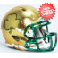 Notre Dame Fighting Irish NCAA Mini Speed Football Helmet <B>Shamrock HydroSkin</B>