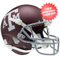 Helmets, Full Size Helmet: Texas A&M Aggies Full XP Replica Football Helmet Schutt <B>Matte Maroon</B>