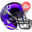 TCU Horned Frogs Full XP Replica Football Helmet Schutt <B>Chrome</B>