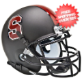 Helmets, Mini Helmets: Stanford Cardinal Mini XP Authentic Helmet Schutt <B>Matte Black</B>