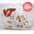 Helmets, Mini Helmets: Virginia Tech Hokies NCAA Mini Speed Football Helmet <B>White</B>