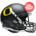 Helmets, Full Size Helmet: Oregon Ducks Full XP Replica Football Helmet Schutt <B>Matte Black</B>