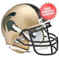 Helmets, Mini Helmets: Michigan State Spartans Mini XP Authentic Helmet Schutt <B>Gold</B>
