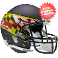 Helmets, Full Size Helmet: Maryland Terrapins Full XP Replica Football Helmet Schutt <B>Black Wing</B>