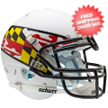 Helmets, Full Size Helmet: Maryland Terrapins Authentic College XP Football Helmet Schutt <B>White Win...