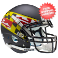 Helmets, Full Size Helmet: Maryland Terrapins Authentic College XP Football Helmet Schutt <b>Black Win...