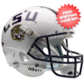 Helmets, Full Size Helmet: LSU Tigers Full XP Replica Football Helmet Schutt <B>White</B>