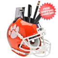 Office Accessories, Desk Items: Clemson Tigers Miniature Football Helmet Desk Caddy