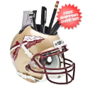 Office Accessories, Desk Items: Florida State Seminoles Miniature Football Helmet Desk Caddy