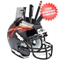Office Accessories, Desk Items: Florida State Seminoles Miniature Football Helmet Desk Caddy <B>Black</B>
