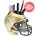 Office Accessories, Desk Items: Georgia Tech Yellow Jackets Miniature Football Helmet Desk Caddy