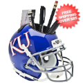 Office Accessories, Desk Items: Kansas Jayhawks Miniature Football Helmet Desk Caddy