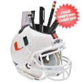 Office Accessories, Desk Items: Miami Hurricanes Miniature Football Helmet Desk Caddy