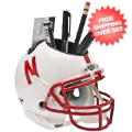 Office Accessories, Desk Items: Nebraska Cornhuskers Miniature Football Helmet Desk Caddy