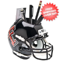 Office Accessories, Desk Items: Texas Tech Red Raiders Miniature Football Helmet Desk Caddy