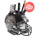 Office Accessories, Desk Items: Vanderbilt Commodores Miniature Football Helmet Desk Caddy <B>Black</B>