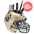 Office Accessories, Desk Items: Washington Huskies Miniature Football Helmet Desk Caddy