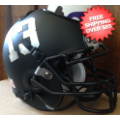 Office Accessories, Desk Items: Fresno State Bulldogs Mini Football Helmet Desk Caddy <B>Matte Black</B>