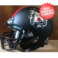 Helmets, Mini Helmets: Fresno State Bulldogs Mini XP Authentic Helmet Schutt <B>Matte Black</B>
