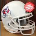 Helmets, Full Size Helmet: Fresno State Bulldogs Full XP Replica Football Helmet Schutt <B>White</B>