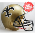 Helmets, Full Size Helmet: New Orleans Saints 1976 to 1999 Football Helmet