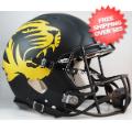 Helmets, Full Size Helmet: Missouri Tigers Speed Football Helmet <B>Matte Black Alt</B>